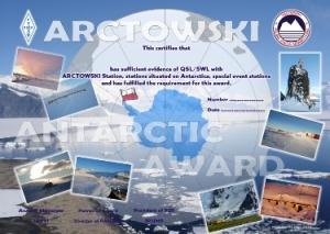 ANTARCTICA ARCTOWSKI AWARD