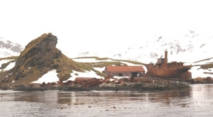 Abandoned whaling vessel at Husvik