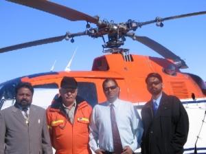 Basi_IND_Mr Narendra Singh Gautam , Mr. Gunter Mahler (Pihelicopter-crew), Mr Bhagwati Parsad and Mr Rajesh Dabral