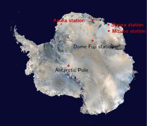 Basi JPN JA Bases in Antarctica