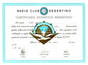 Certificado Antartico Argentino