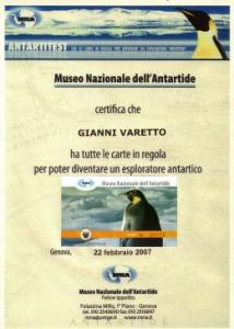 Diploma Museo Antartide Genova rsd