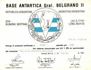 Gral Belgrano 2 Award