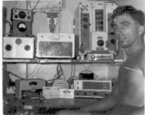 VP8HF-MMRadio set up on board