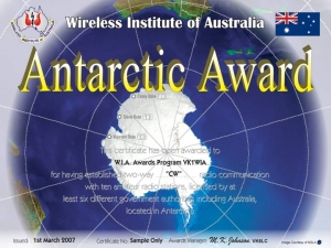 WIA Antarctic Award 2007